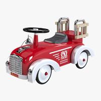 3d speedster pompier toy car