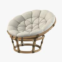 Bon Papasan Rattan Chair