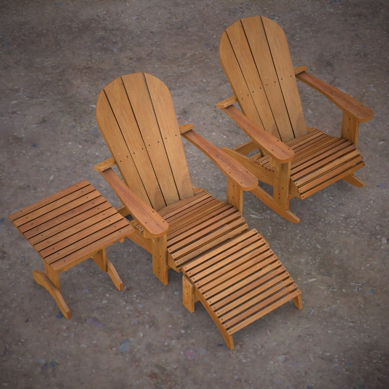 c4d chair table adirondack
