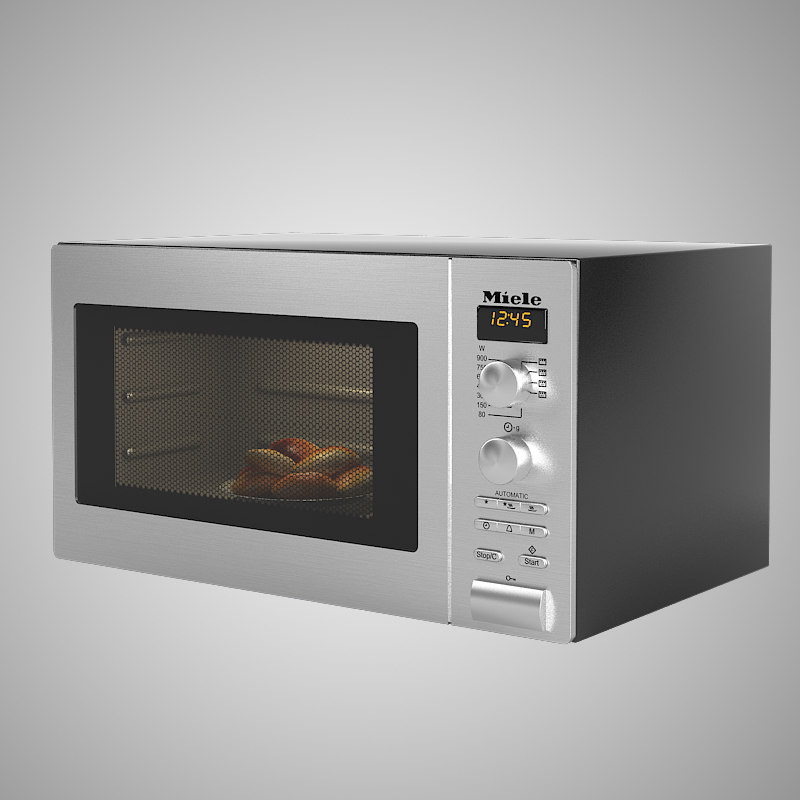 miele freestanding microwave oven 3d model