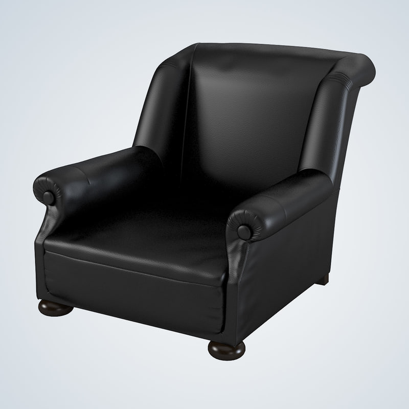 massage chair leather 3d model