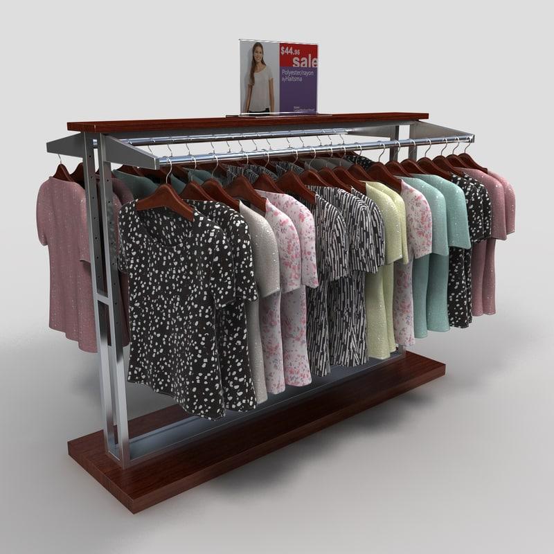 3d women blouses rack