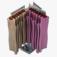 3d model women dresses rack clothing