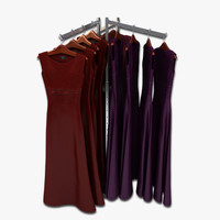 womens dresses rack 3d model