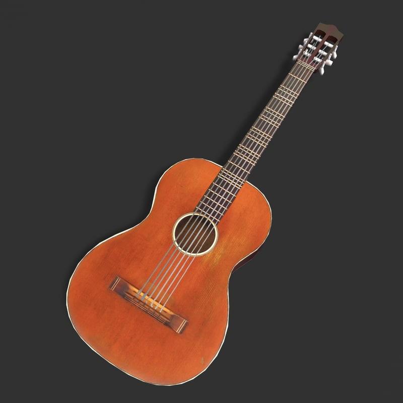 3ds max classic acoustic guitar