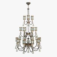 fine art lamps chandelier 3d model