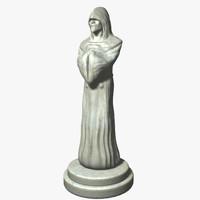3d model monk statue