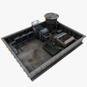 3d model roof environment
