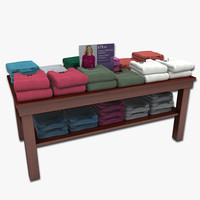 3d model women sweater table