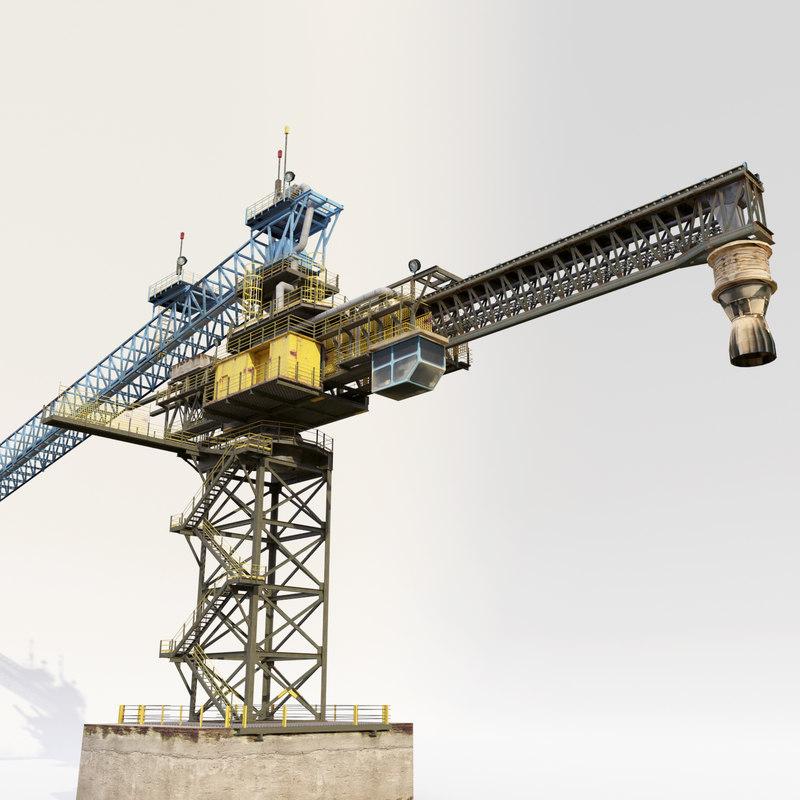 3d ship loader model