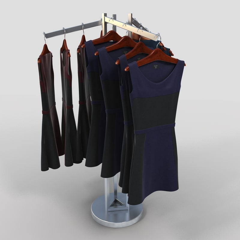 3d womens dresses rack model