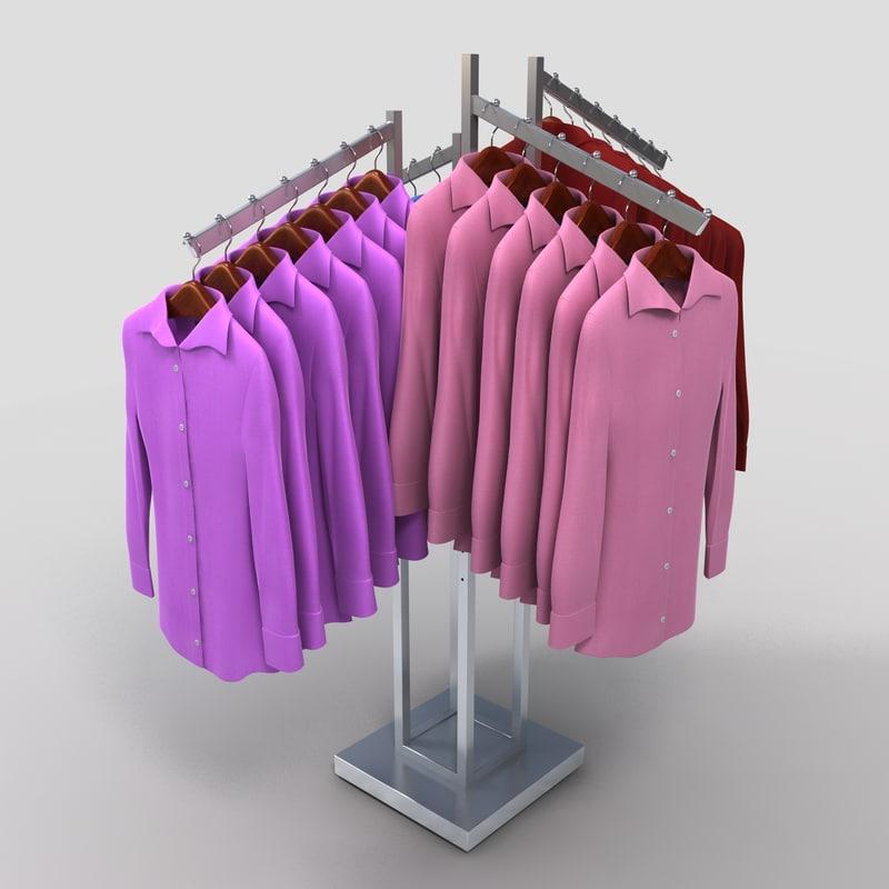 max women dress shirt rack