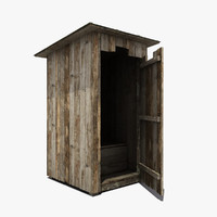 wooden wood toilet 3d max