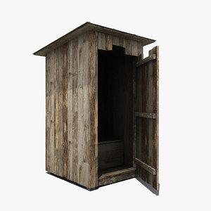 wooden wood toilet 3d max