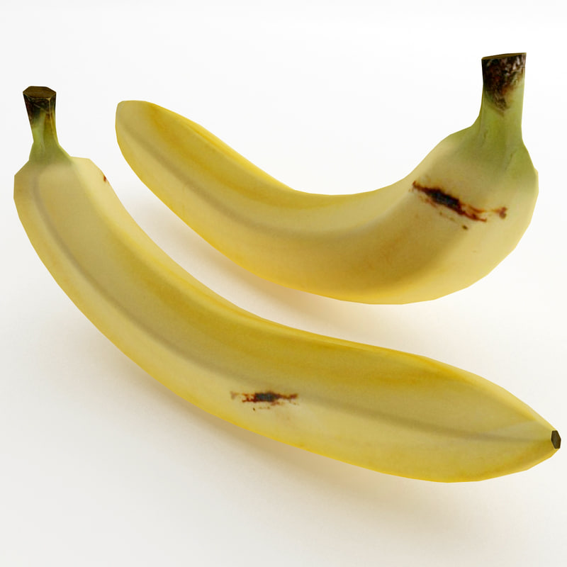 3d banana games ready model