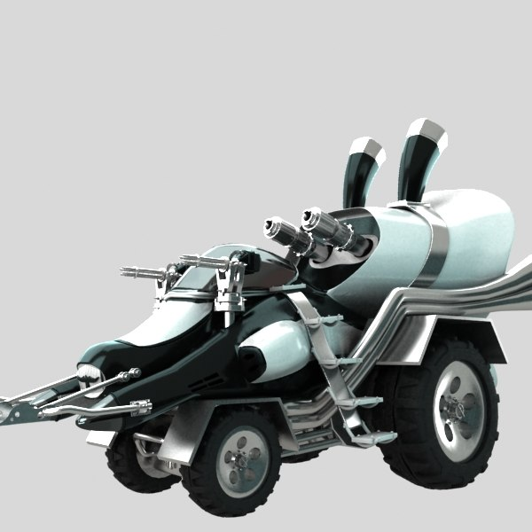 3d car fighter model