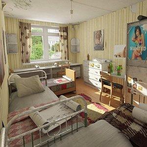 3d model men s hostel