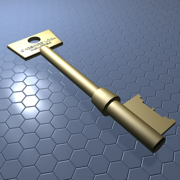 3d model of mortice key