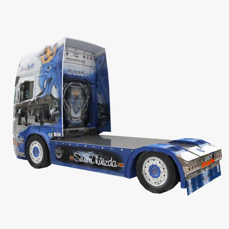 3d truck semi lorry