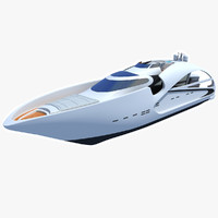 3d audax sport yacht modeled