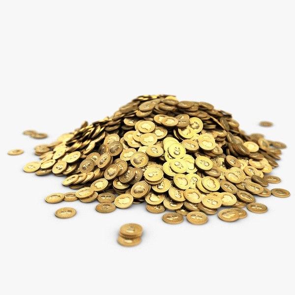 big heap gold coins max