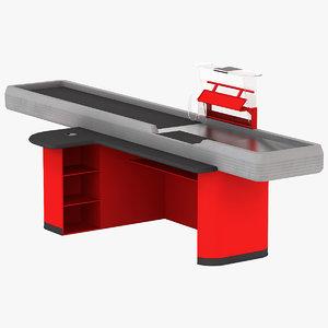 cash counter 3 3d model