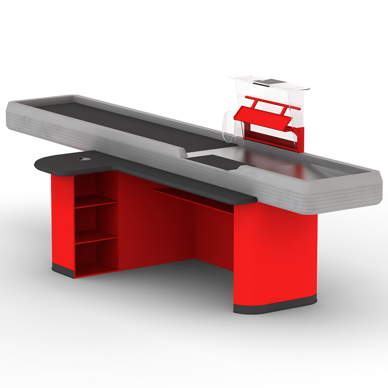 cash counter 3 3d model