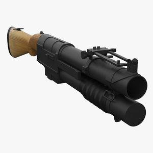 grenade launcher ex-41 3d max