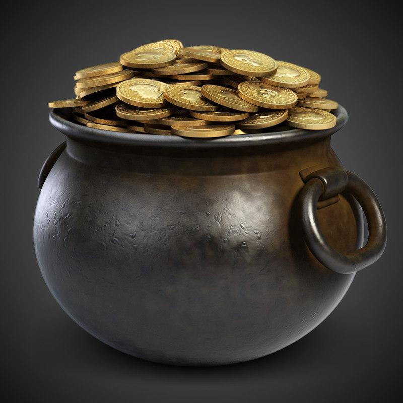 iron pot gold coins max