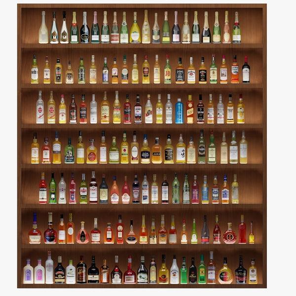 140 bottles 3d max