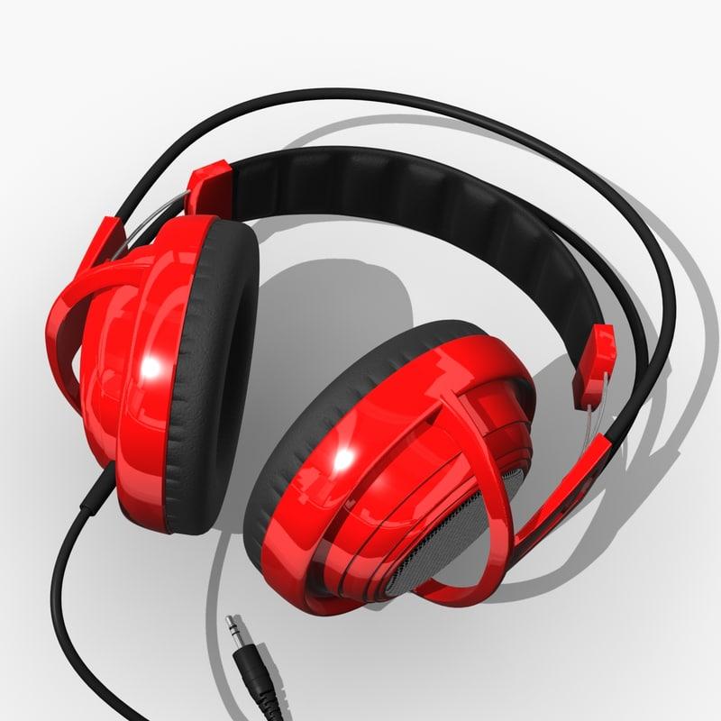 3d headphones head phones model