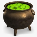 Witch's Cauldron 3D models