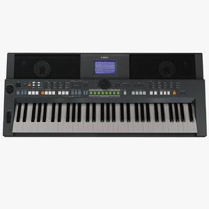 yamaha psr s650 keyboard 3d 3ds