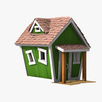 3d wooden house kid model