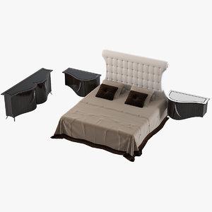 francesco molon bedroom set 3d model