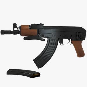 3d ak-47 compact model