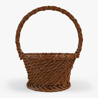 basket wood 3d model