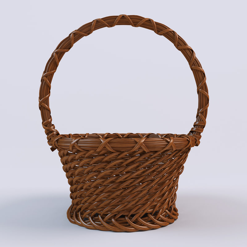 basket wood 3d model