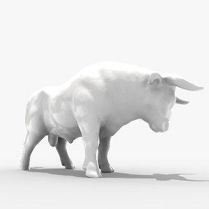 3ds max bull sculpture