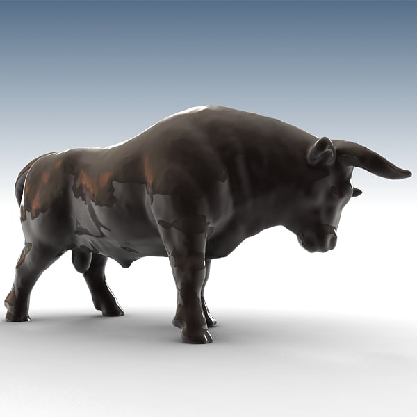 3ds max bull sculpture