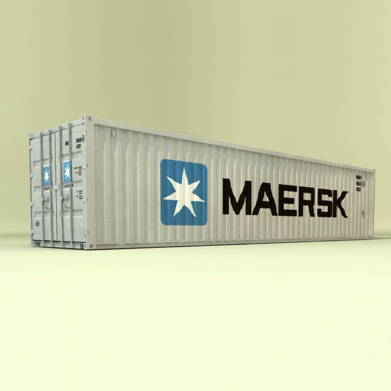 iso 40 ft container 3d model