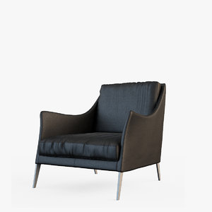 flexform boss armchair 3d max