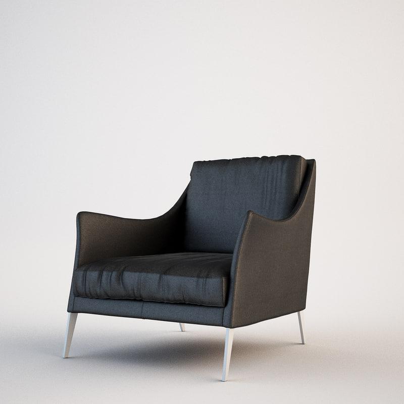 flexform boss armchair 3d max