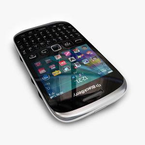 3d model new blackberry curve 9320