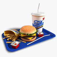 3d burger set