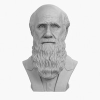 3ds max decorative bust darwin
