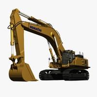 komatsu pc800 lc excavator 3d model