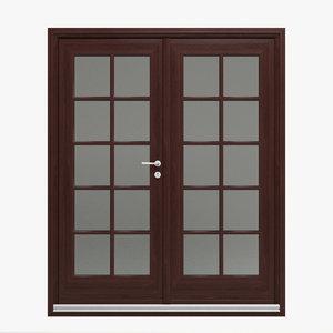 3d model double door