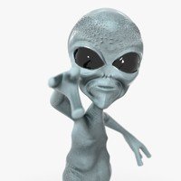 3d grays aliens model