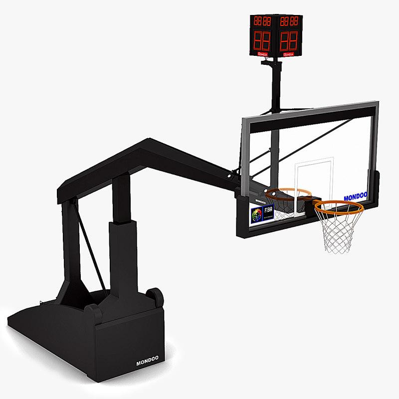 basketball basket 3d 3ds